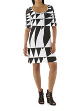 /product/Geometirc-Print-Sheath-Dress-with-Mesh-Shoulders/158115.uts