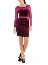 /product/Sweetheart-Peplum-Dress-with-Mesh-Insets/159202.uts