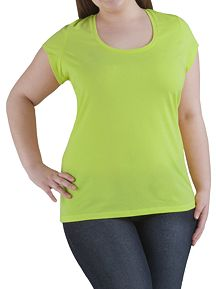 Cap Sleeve Scoop Neck Tee