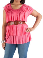 /product/Plus-Short-Sleeve-Tier-Front-Top-with-Belt/510.uts