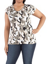 /product/Plus-Cap-Sleeve-Camo-Print-V-Neck-Top/156343.uts