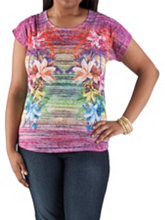 /product/Plus-Tropical-Print-Burn-Out-Top/157028.uts
