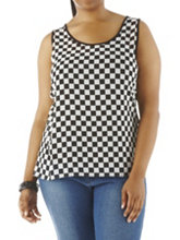 /product/Plus-Checkered-Sheer-Front-Tank-with-Contrast-Back/158148.uts