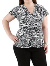 /product/Plus-Rouched-Animal-Print-Short-Sleeve-Top/157532.uts