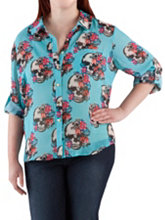 /product/Plus-Long-Sleeve-Skull-and-Floral-Print-Sheer-Top/156489.uts