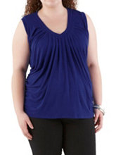 /product/Plus-Sleeveless-Side-Ruched-V-Neck-Top/157830.uts