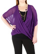 /product/Plus-Chiffon-Wrap-Top-with-Necklace/157034.uts