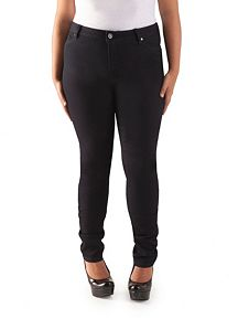 Plus Curvy Fit Faux Pocket Skinny Jeggings