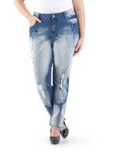 /product/Plus-Curvy-Fit-Decon-Splatter-Print-Skinny-Jeans/155938.uts