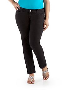 Plus Classy Fit Black 5 Pocket Skinny Jeans