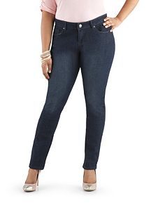 Plus Curvy Fit Rinse 5 Pocket Skinny Jeans