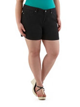 /product/Plus-Super-Stretch-Side-Slit-Black-Shorts/157482.uts