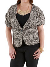 /product/Plus-Animal-Print-Short-Sleeve-Blazer/157625.uts