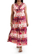 /product/Plus-Double-V-Neck-Knotted-Front-Aztec-Print-Maxi/157069.uts
