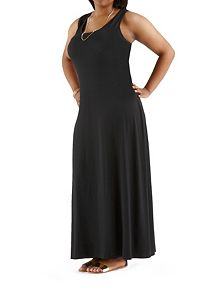 Plus Solid Tank Maxi Dress