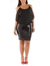 /product/Plus-Cold-Shoulder-Sequin-Bottom-Dress/159207.uts