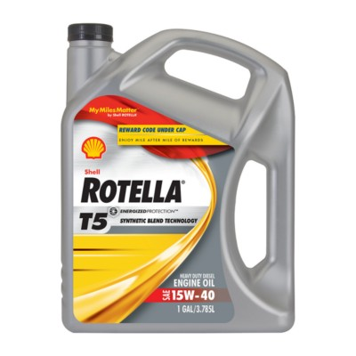 Shell Rotella T5 Synthetic Blend 15w40 Motor Oil 1 Gal She 550040730 Buy Online Napa Auto