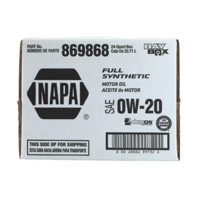 Napa Full Synthetic 0w20 Motor Oil 6 Gal Nol 869868 Buy Online Napa Auto Parts