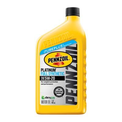 Pennzoil Platinum 5w20 Motor Oil 1 Qt Pen 550022686