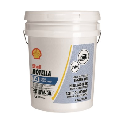 Shell Rotella T4 >> Shell Rotella T4 Triple Protection 10W30 Motor Oil - 18.9 L SHL 550045136 | Product Details