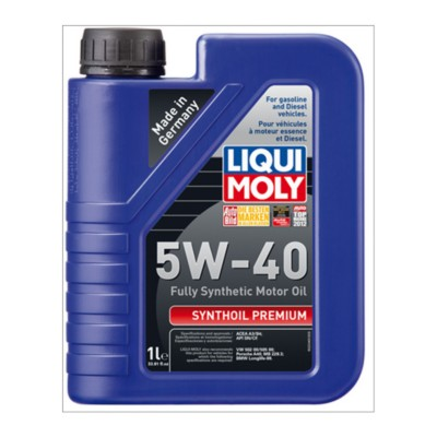 liqui moly synthoil 5w40 premium motor oil 1 l aic. Black Bedroom Furniture Sets. Home Design Ideas