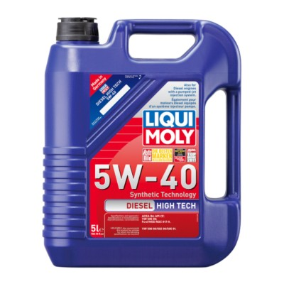liqui moly diesel high tech 5w40 motor oil 5 l aic. Black Bedroom Furniture Sets. Home Design Ideas