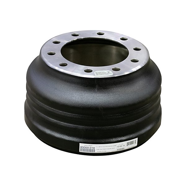 - Brake Drum - 16.5 in. x 7 in. Brake Size - 10 Bolt Holes - For Truck & Trailer Application - DRM80000-018