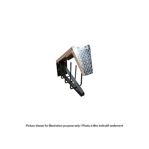 Trebor Manufacturing - Steel Body Checker Plate Lid 24.5 in. D x 12.5 in. H x 8.5 in. W Cab Rack - TRETRTIRECHAINCARI