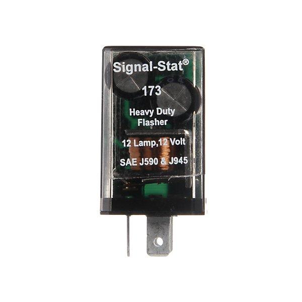 Truck-Lite - Signal-Stat, 12 Light Electro-Mechanical, Plastic Flasher Module, 70-120fpm, 12V, 3 Blade Terminals - TRL173