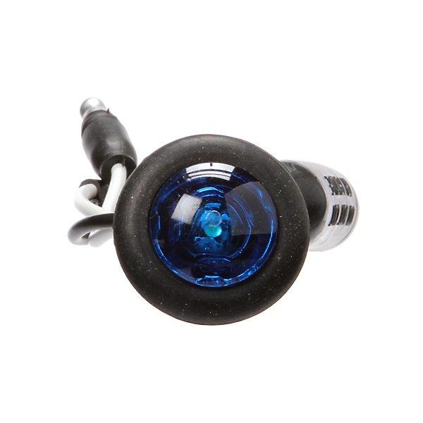 Truck-Lite - 33 Series, LED, 1 Diode, Round Blue, Auxiliary Light, Black Grommet Mount, Hardwired, .180 Bullet, 12V, Kit - TRL33065B