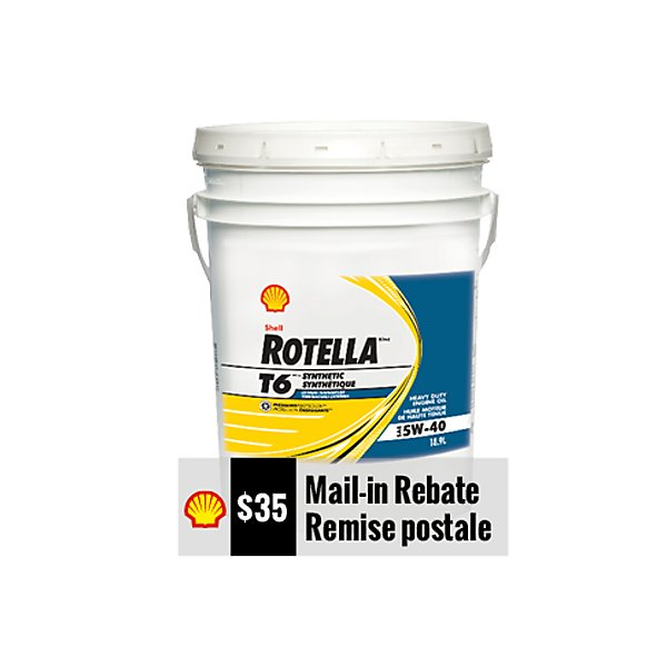 Shell - Rotella T6 5W40 Motor Oil - 18.9 L - SHE550046217