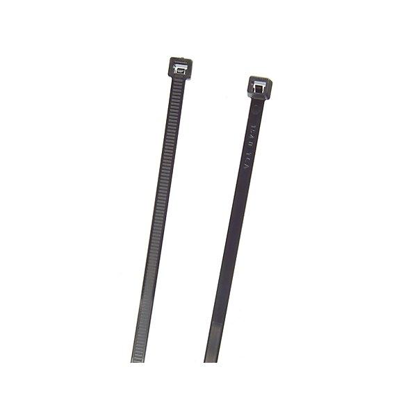 Grote - Standard Tie, Black, 9In, 120 Lb, Pk 100 - GRO83-6016
