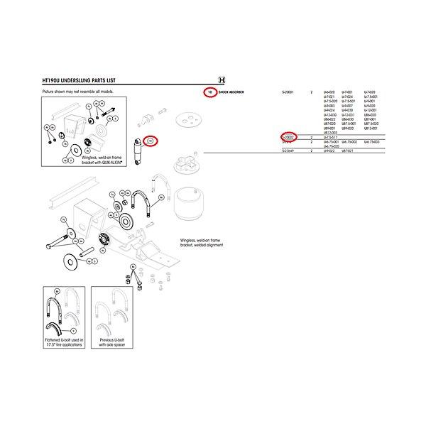 Hendrickson - Shock Absorber 85000/89436 / 65416 - TURS-20002
