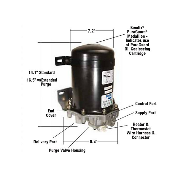 Bendix - Remanufactured AD-9 Air Dryer - BEN109685X