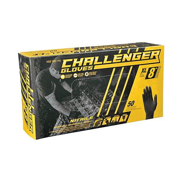 Challenger Gloves - Nitrile Gloves 8 Mil Black Xl - GJO360-143
