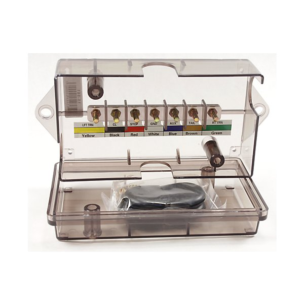 Phillips - Junction Box - 7 Pole - For Ring Terminal - Clear - PHI15-961