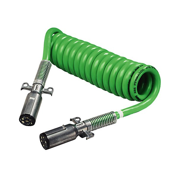 Phillips - Cable Assembly - ABS PERMACOIL™, Coiled, 15 Ft., 4/12, 2/10 & 1/8 ga., with Zinc Die-Cast Plugs - PHI30-4621