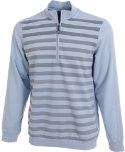 Ashworth French Terry Herringbone Print 1/2-Zip Pullover