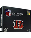 Bridgestone e6 Straight Distance Cincinnati Bengals NFL Golf Balls - 12 Pack