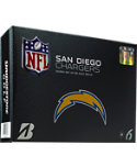 Bridgestone e6 Straight Distance San Diego Chargers NFL Golf Balls - 12 Pack