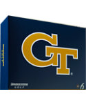 Bridgestone e6 Straight Distance Georgia Tech NCAA Golf Balls - 12 Pack