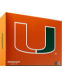 Bridgestone e6 Straight Distance University of Miami NCAA Golf Balls - 12 Pack