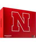 Bridgestone e6 Straight Distance University of Nebraska NCAA Golf Balls - 12 Pack