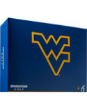 Bridgestone e6 Straight Distance WVU NCAA Golf Balls - 12 Pack