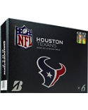 Bridgestone e6 Straight Distance NFL Houston Texans Golf Balls - 12 Pack