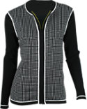 EP Pro Women's Checkerboard Cardigan