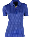 EP Pro Women's Regal Scroll Print Polo
