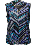 Jamie Sadock Women's Chevron Stripe Sleeveless Polo