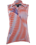 Jamie Sadock Women's Dizzy Print Sleeveless Polo