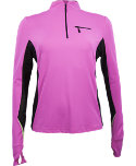 Jamie Sadock Women's Actif 1/2-Zip Long Sleeve Polo
